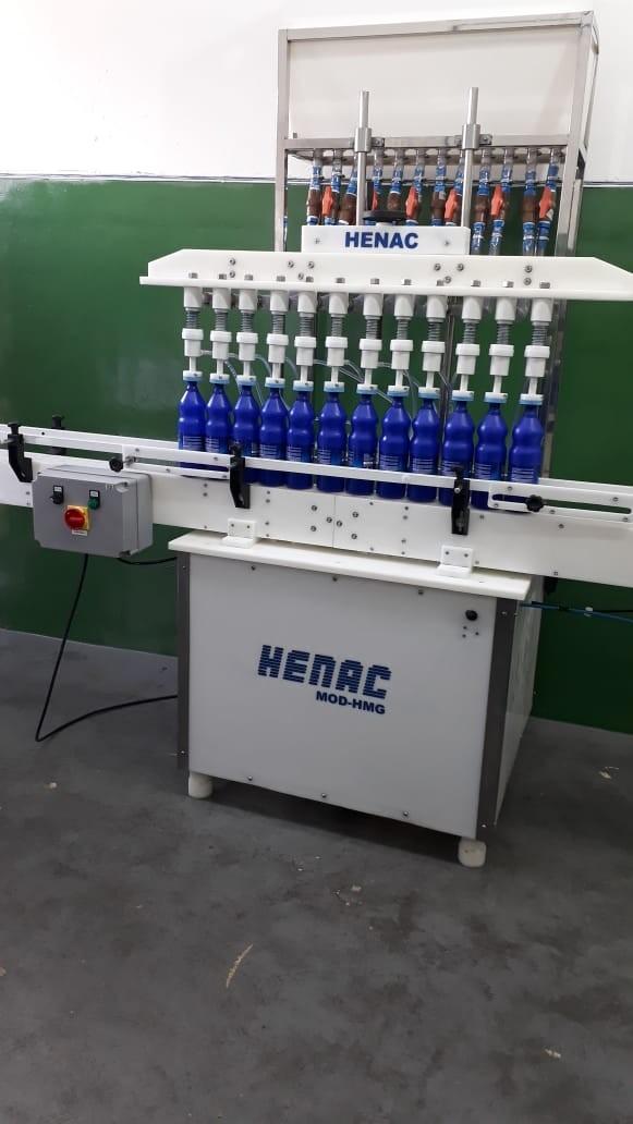 Envasadora de líquidos semi automática